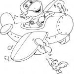 Dibujos para colorear avion